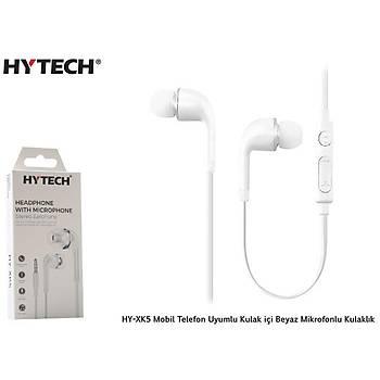 Hytech HY-XK5 Kulak içi Beyaz Mikrofonlu kulaklýk