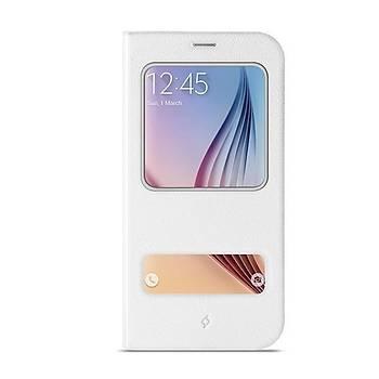 Ttec 2KLYK41B Samsung S6 Beyaz Flipcase Smart Koruma Kýlýfý