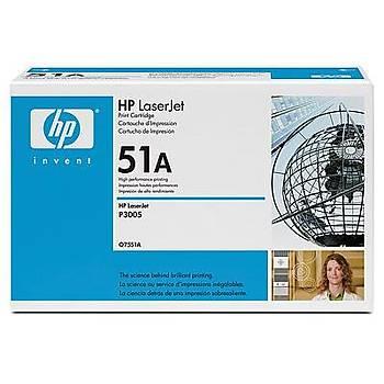 HP 51A Black Siyah 6.500 Sayfa Toner Q7551A