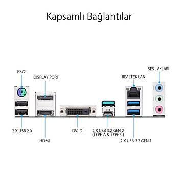 Asus Prime Z490M-Plus Intel Z490 Soket 1200P Ddr4 4600Mhz O.C M.2 Anakart