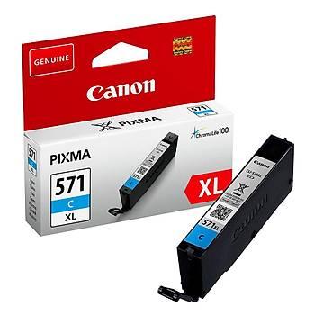 Canon CLI-571XL C Cyan Mavi Yüksek Kapasiteli Mürekkep Kartuþ TS5050-9050