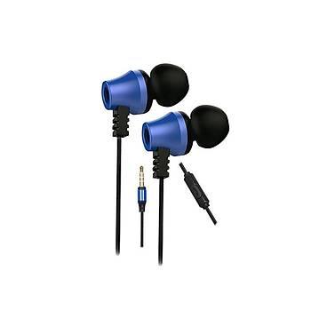 Snopy SN-J02 Siyah Mavi Kulak Ýçi Kulaklýk Mikrofonlu Kulaklýk