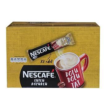 Nestle Nescafe 3ü1 Arada Sütlü Köpüklü 72 Adet 17,4gr 12397895