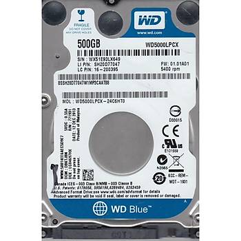 "Wd 500Gb Blue 2,5"" 32Mb 5400Rpm Wd5000Lpcx Notebook Harddisk"