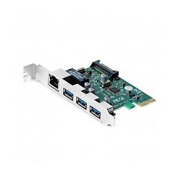Dark DK-NT-Peglanu3  3x USB3.0 + Gigabit LAN PCIE X1 Að Kartý