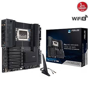 Asus Pro Ws WRX80E-Sage Se Wifi AMD WRX80 2048GB M2 Extended ATX Anakart