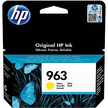 HP 963 Yellow Sarý Kartuþ 3JA25A