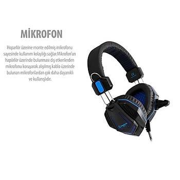 Rampage SN-R4 Siyah Oyuncu Mikrofonlu Kulaklýk