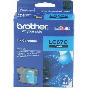 Brother LC-67C Cyan Mavi 325 Sayfa Kartuþ DCP-185-385 MFC-490-615-790-795-990-5490-5890-6490-6890