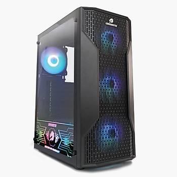 GameBooster GB-G3309B 550w 80+ ATX USB 3.0 Mesh RGB Fan Siyah Atx Kasa