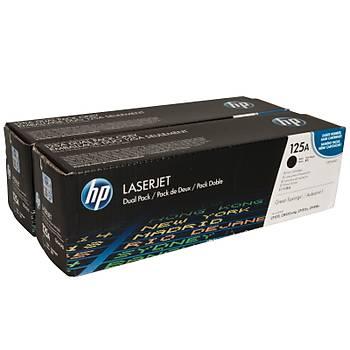 HP 125A Black Siyah Çiftli 2.200 Sayfa Toner CB540AD