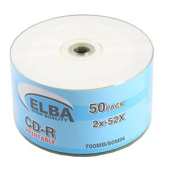 Elba CD-R 700MB-80MIN Printable 50li Shrink