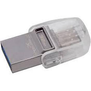 Kingston DTDUO3C 32 Gb Microduo 3C USB 3.0-3.1 Flash Bellek Çift Taraflý