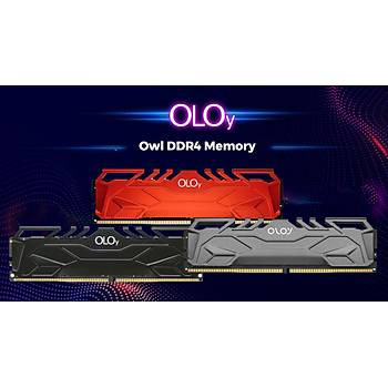 OLOy 8GB DDR4 3000MHZ C16 OWL BLACK MD4U0830162BHKSA Soðutuculu Pc Ram