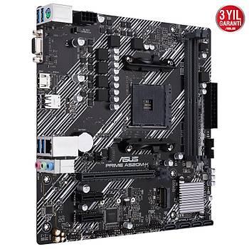 Asus Prime A520M-K AMD AM4 64GB DDR4 4600Mhz M2 Vga-Hdmi mATX Anakart