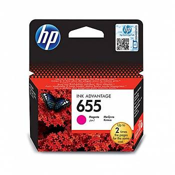 HP 655 Magenta Kýrmýzý Kartuþ CZ111AE
