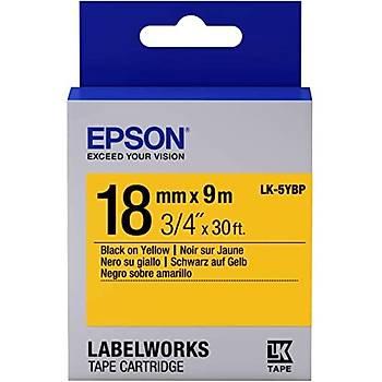 Epson LK-5YBP Pastel Sarý Üzeri Siyah 18mm 9metre Etiket