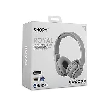 Snopy sn-BT51 Royal Beyaz Bluetooth Kulaklýk