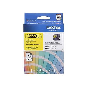 Brother LC565XLY Yellow Sarý 1.200 Sayfa Kartuþ MFC-J3520-J3720
