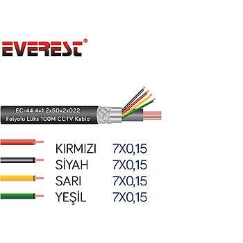Everest EC-44 4+1 2x50+2x022 Folyolu Lüks 100M CCT