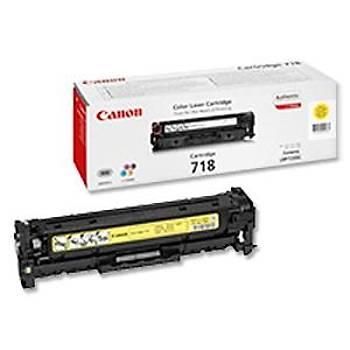 Canon CRG-718Y Yellow Sarý Toner MF728-729 MFC8350-8580 LBP7210