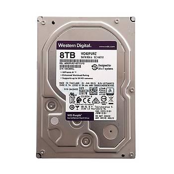 WD 8TB  Purple 3.57200Rpm 256Mb Sata 3 7-24 WD82PURZ Harddisk