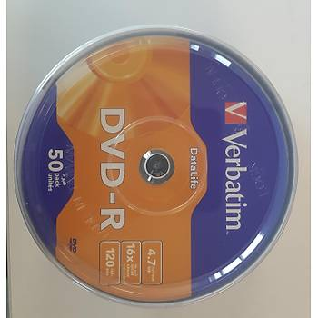 Verbatim DVD-R 50LÝ DataLife 4,7GB 16X 120Min (069724-02)