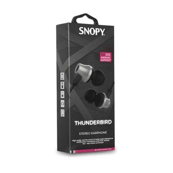 Snopy SN-J02 Thunderbird Mobil Telefon Uyumlu Kulak içi Beyaz-Gümüþ Mikrofonlu KulaklýK