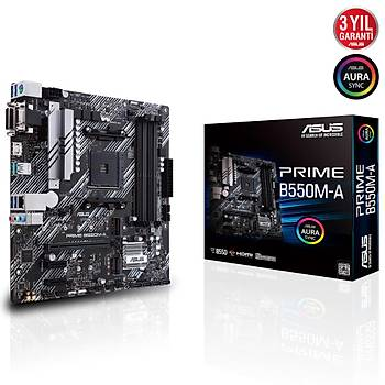 Asus Prime B550M-A AMD AM4 3.Nesil DDR4 VGA DVI HDMI Anakart