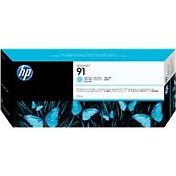 HP 91 Light Cyan Açýk Mavi 775ML Plotter Kartuþu C9470A