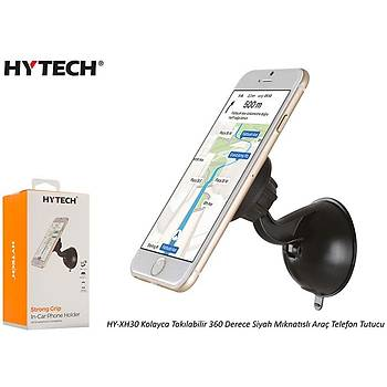 Hytech HY-XH30 Kolayca Takýlabilir 360 Derece Siyah Mýknatýslý Telefon Tutucu