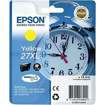 Epson 27XL Yellow Sarý Mürekkep Kartuþ T27144012