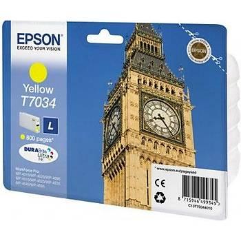 Epson T7034 Yellow Sarý 800 Sayfa Mürekkep Kartuþ T70344010