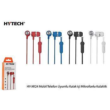 Hytech Hy-Xk24 Mavi Mobil Kulaklýk Uyumlu Kulak Ýçi Mikrofonlu Kulaklýk