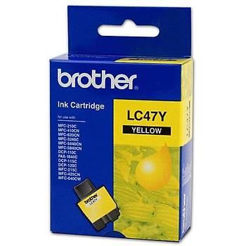 Brother LC-47Y Yellow Sarý 400 Sayfa Kartuþ DCP-110-115 MFC-210-215-310-315