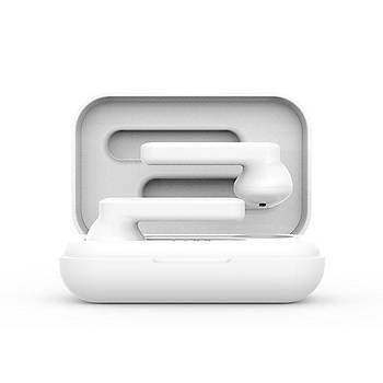 Snopy SN-F3 Beyaz Mobil Telefon Uyumlu Bluetooth TWS Mikrofonlu Kulaklýk