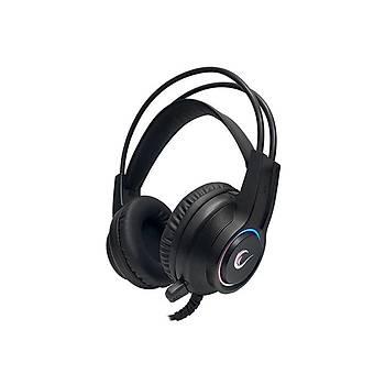 Rampage RM-K15 X-MASTER Siyah Usb 7.1 RGB Ledli Gaming Oyuncu Mikrofonlu Kulaklýk