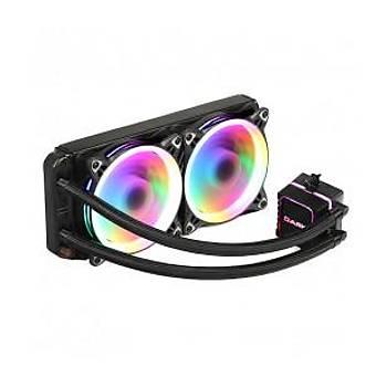 Dark AquaForce W244 2xÇevresel Adressable RGB Aydýnlatmalý Sývý Soðutma
