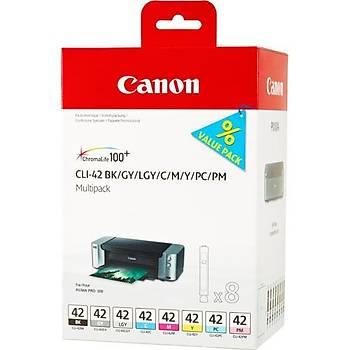 Canon CLI-42 Black-Cyan-Magenta-Yellow Siyah-Mavi-Kýrmýzý-Sarý Mürekkep Kartuþ
