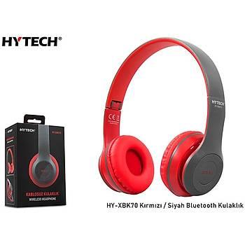 Hytech HY-XBK70 Kýrmýzý-Siyah Bluetooth Kulaklýk