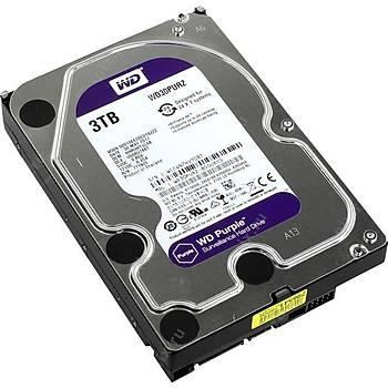 """Wd 3Tb Purple 3,5""""  64Mb 5400Rpm Wd30Purz Harddisk"""