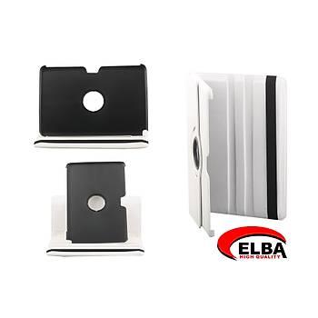 Elba Samsung Tab2 P3100 Renkli Kýlýf 360 Derece Dönebilen (Kýrmýzý-Siyah-Beyaz)