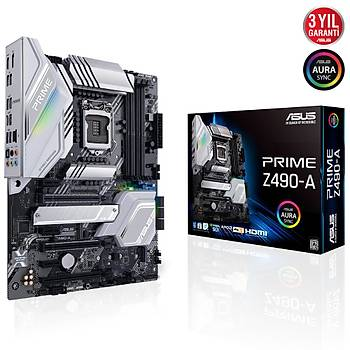 Asus Prime Z490-A Intel 10.Nesil DDR4 Dp Hdmi Usb3.1 Anakart