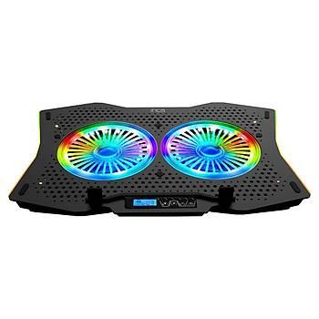 Inca Gms Arrax II 2X Rgb Fan Lcd Kontrol Panel 7 Gaming Notebook Soðutucu