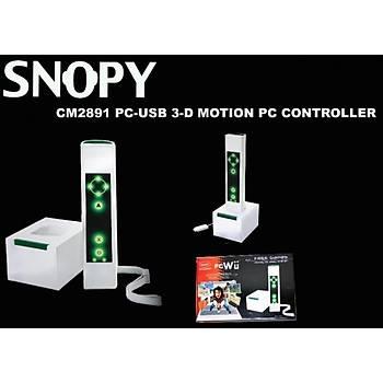 Snopy CM2891 Usb 3d Motion Pc Kontroller Gamepad Dokunmatik Tuþlu