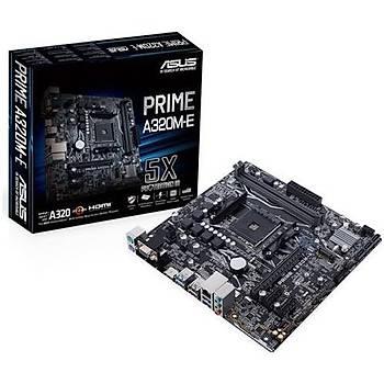 Asus Prime A320M-E AMD AM4 32GB DDR4 3200Mhz M2 Dvi-Vga-Hdmi mATX Anakart