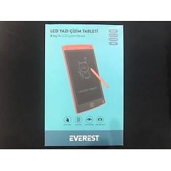 "Everest EV-DY100 8,5"" Kýrmýzý Tek Tuþla Sil Dijital Yazý Tahtasý Yazý Alaný 125x175mm"
