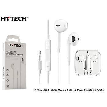 Hytech HY-XK10 Kulak içi Beyaz Mikrofonlu Kulaklýk
