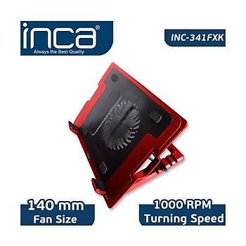 Inca Inc-341FXK Kýrmýzý Ergonomik Sessiz Usb Notebook Soðutucu