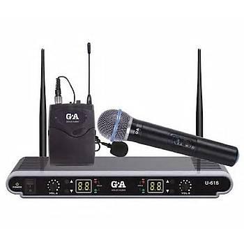 Gold Audio 616 Kablosuz Uhf Mikrofon